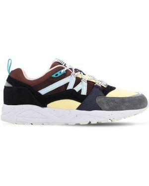 Sneakersy skorzane sznurowane koronkowe Karhu