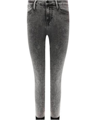 Облегающие зауженные джинсы - серые Frame Denim