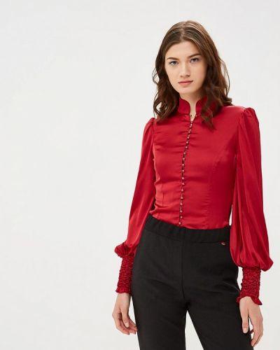 Блузка с длинным рукавом бордовый красная Mirasezar