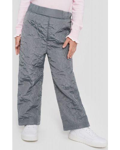 Прямые теплые светло-серые брюки на синтепоне Ostin