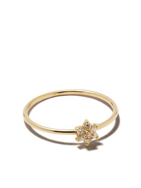 Белое кольцо с бриллиантом Zoë Chicco