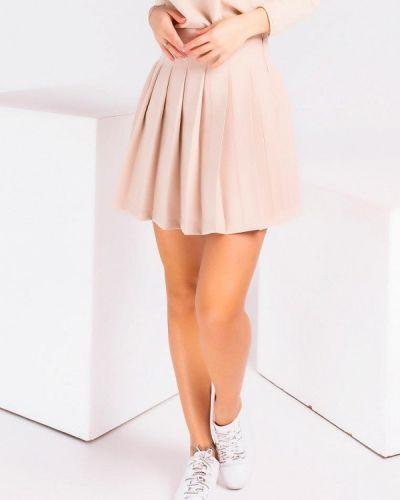 Бежевая юбка свободного кроя Modna Anka