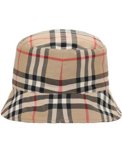Bawełna beżowy bawełna kapelusz Burberry