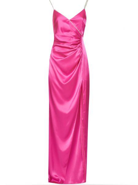 Платье с камнями - розовое David Koma