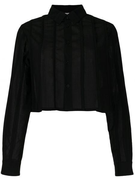 Черная рубашка с длинными рукавами с воротником Comme Des Garçons Noir Kei Ninomiya