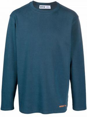 Niebieska bluza długa z długimi rękawami bawełniana Affix