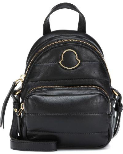Skórzany plecak mało czarny Moncler