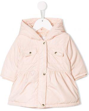 Różowy płaszcz z długimi rękawami Chloé Kids