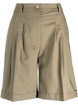 С завышенной талией хлопковые шорты с карманами Piazza Sempione