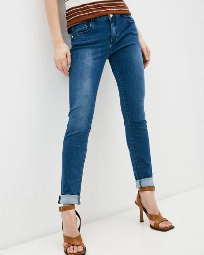 Синие джинсы-скинни узкого кроя Trussardi