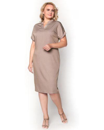 Платье из вискозы бежевое Virgi Style