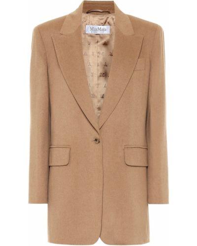 Коричневый пиджак из верблюжьей шерсти Max Mara