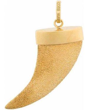 Золотистый желтый золотая подвеска с декоративной отделкой Carolina Bucci