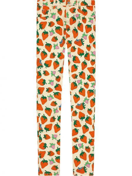 Majtki z nadrukiem z kwiatowym nadrukiem Gucci
