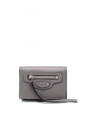 Кожаный кошелек на молнии с карманами Balenciaga
