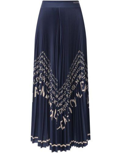 Плиссированная юбка миди в складку Valentino
