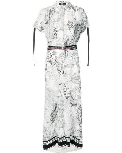 Платье мини на пуговицах с разрезами по бокам Karl Lagerfeld