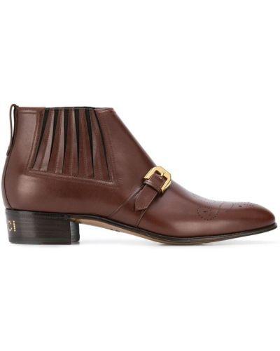 Ботильоны кожаный для обуви Gucci