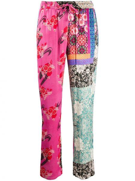Спортивные брюки розовый с завышенной талией Pinko