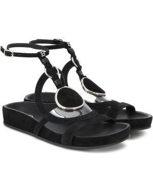 Черные кожаные туфли Balmain