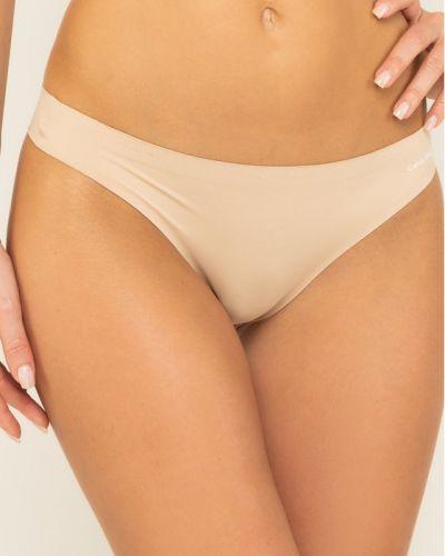 Stringi - beżowe Calvin Klein Underwear