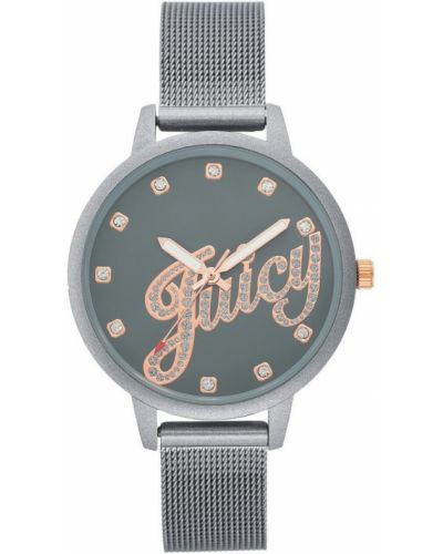 Szary zegarek mechaniczny kwarc Juicy Couture
