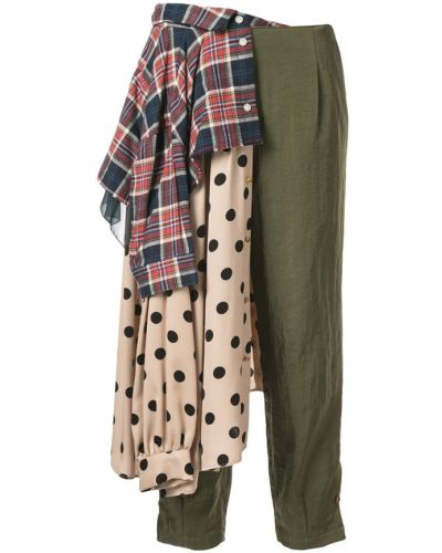 Укороченные брюки с драпировкой брюки-хулиганы Kolor
