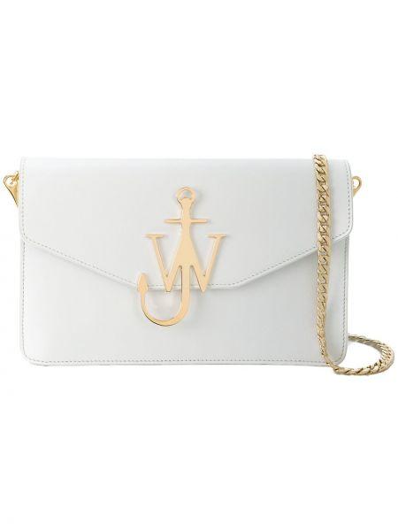 Biały klasyczny portfel skórzany Jw Anderson