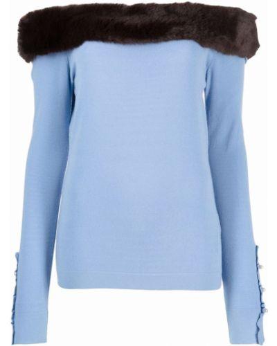 Синяя кофта с длинными рукавами Blumarine