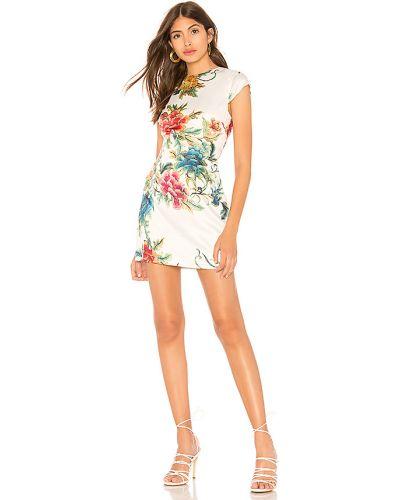 Biały ażurowy sukienka z zamkiem błyskawicznym Superdown