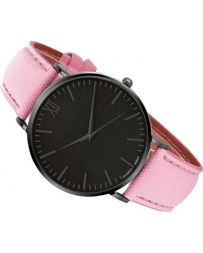 Klasyczny czarny zegarek skórzany Geneva