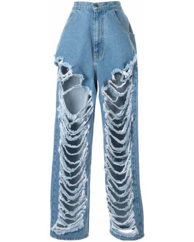 Широкие джинсы с карманами с заплатками Pony Stone