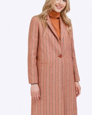 Длинное пальто с принтом шерстяное Emka