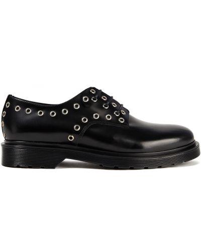 Кожаные черные броги на шнуровке Maje