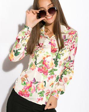 Деловая приталенная рубашка с поясом Time Of Style