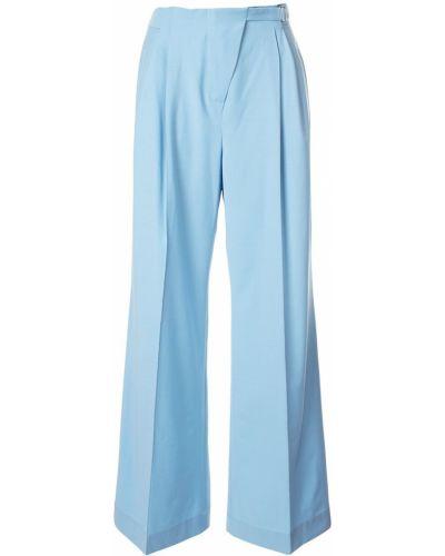 Шерстяные брюки - синие Anna October