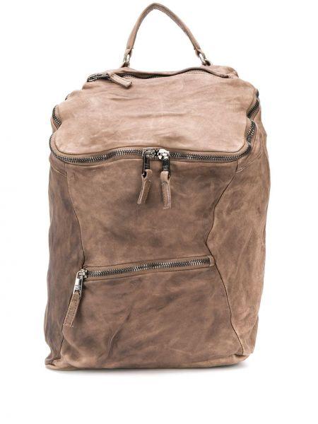 Brązowy plecak skórzany oversize Giorgio Brato