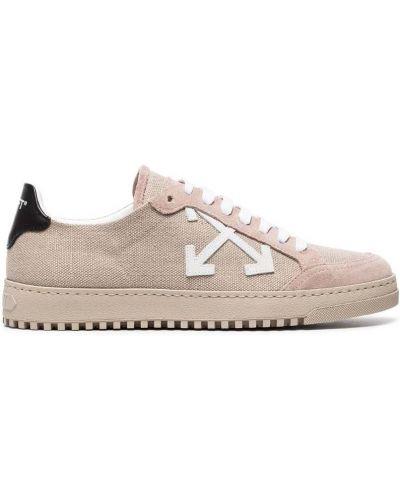 Кожаные кроссовки замшевые Off-white
