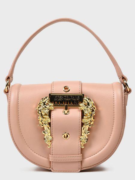 Кожаная сумка - бежевая Versace Jeans Couture
