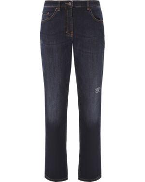 Хлопковые серые джинсы с карманами на пуговицах Ppep