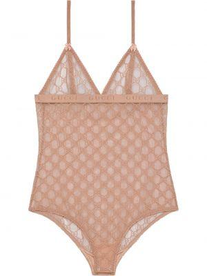 Body tiulowy - różowy Gucci