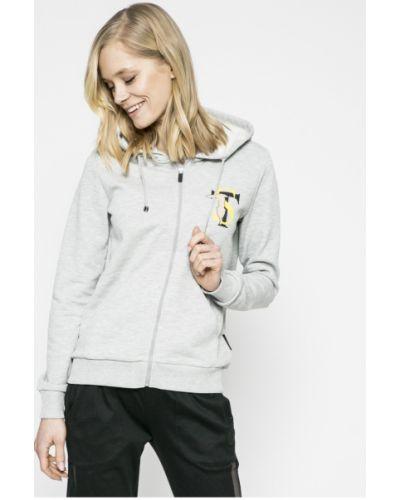Кофта на молнии с капюшоном спортивная с аппликацией Trussardi Jeans