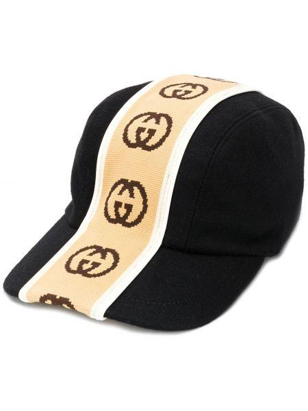 Kapelusz wełniany z logo Gucci