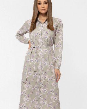 Платье серое платье-рубашка Vladi Collection
