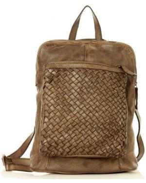 Skórzany plecak z zamkiem błyskawicznym zabytkowe Mazzini