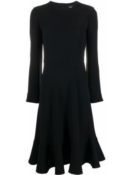 Платье миди на молнии приталенное Giorgio Armani