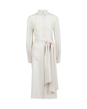 Деловое платье бежевое Eleventy