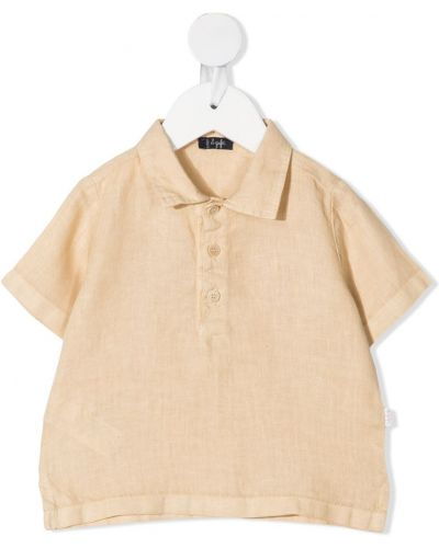 Льняная рубашка с короткими рукавами с воротником Il Gufo