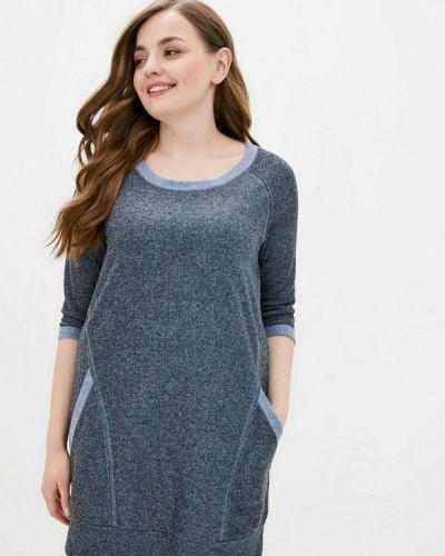 Прямое синее платье Прованс