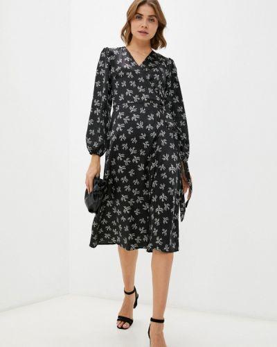 Платье с запахом - черное Imocean